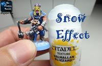 Efekt śniegu - Citadel texture paint Valhallan Blizzard