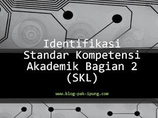 Identifikasi Standar Kompetensi Lulusan (SKL) Bag. 2
