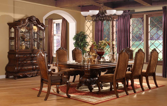 modern formal dining room tables with qualified seats and violet rug along with indoor plant