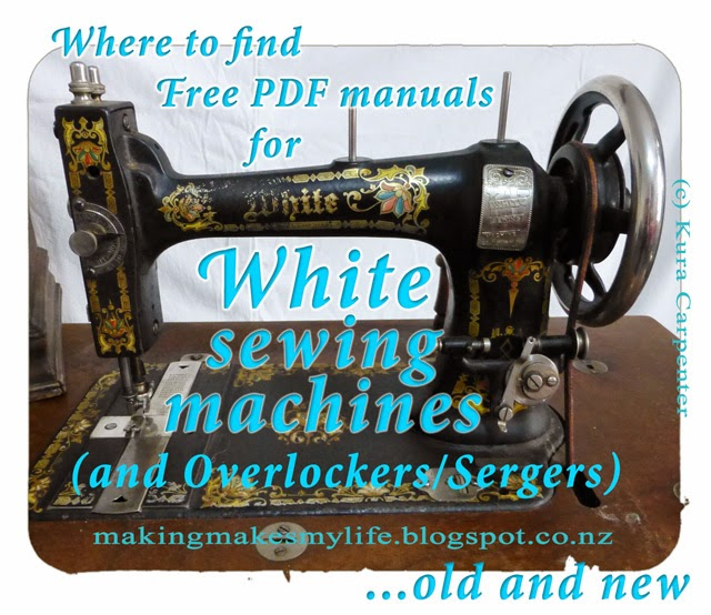 Where to find Free PDF manuals for White sewing machines and Overlockers/Sergers