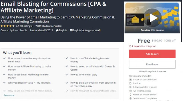 [100% Off] Email Blasting for Commissions [CPA & Affiliate Marketing]| Worth 199,99$
