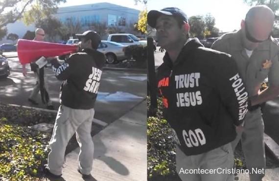 Predicador callejero arrestado en California