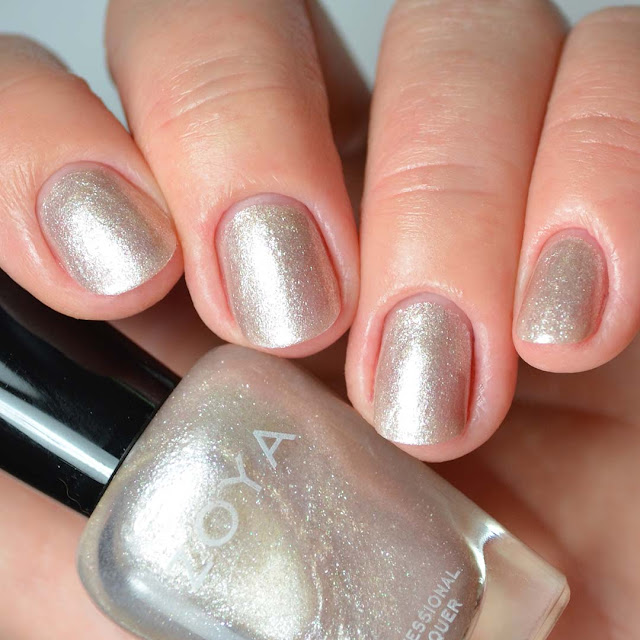 pearl nail polish four finger swatch
