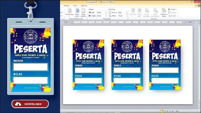 Kumpulan Name Tag Dengan Microsoft Word Gratis
