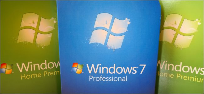 نسخ محاصر من Windows 7 Professional و Home Premium.