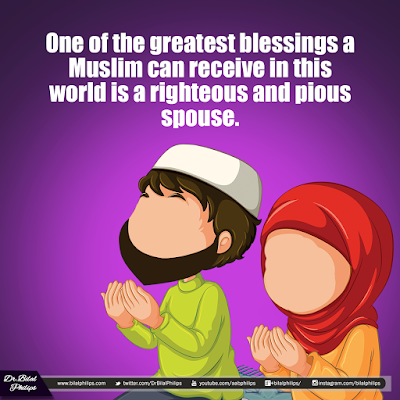 One of the greatest blessings a Muslim can receive in this world is a righteous and pious spouse