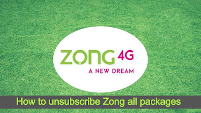 How to unsubscribe Zong all packages - Zong Unsubscribe All Packages Codes 2020