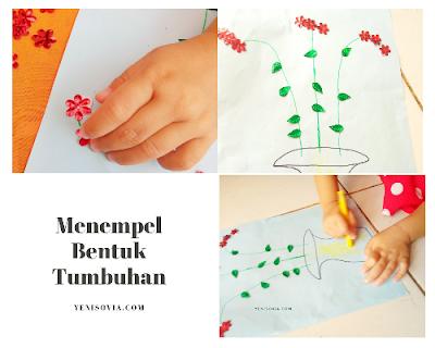 kegiatan menyenangkan untuk anak usia 2 sampa 3 tahun, membuat bentuk tumbuhan