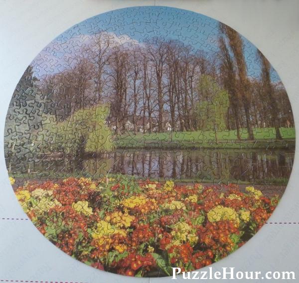 400 piece Philmar Jigsaw Puzzles circular Laurel 1 of a 4 series set vintage design puzzle