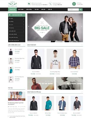 Các giao diện Website kinh doanh online