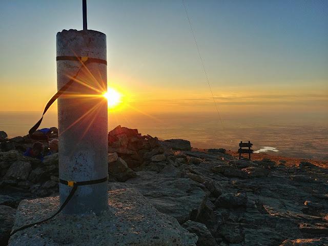 Puesta de sol desde Peñalara