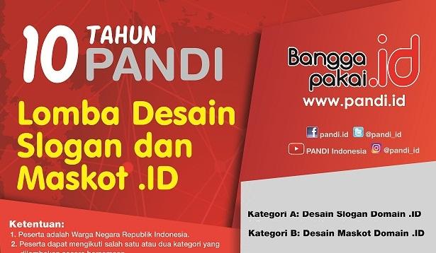 Kontes Desain Slogan dan Maskot .ID #PANDI10tahun Berhadiah 10 Juta