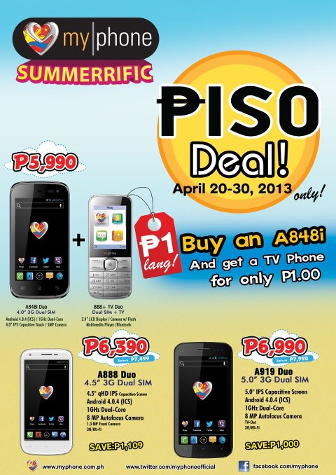 Enjoy the Summer with MyPhone's Summerrific Promo
