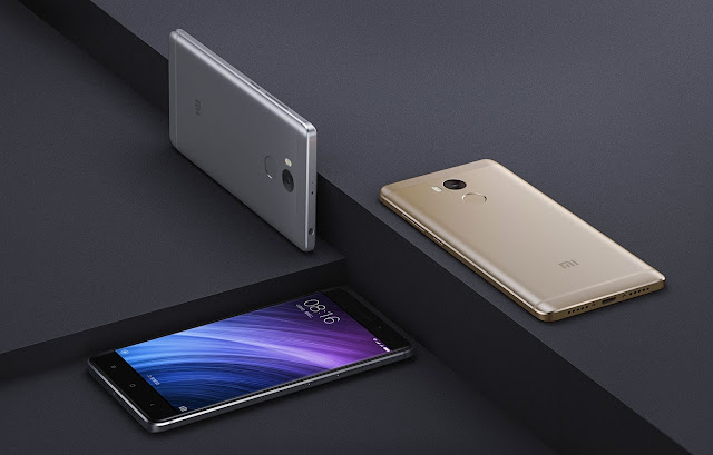 Xiaomi Redmi 4 Specifications - LAUNCH Announced 2016, November  Also known as Xiaomi Redmi 4 Standard DISPLAY Type IPS LCD capacitive touchscreen, 16M colors Size 5.0 inches (~69.1% screen-to-body ratio) Resolution 720 x 1280 pixels (~296 ppi pixel density) Multitouch Yes    - MIUI 8 BODY Dimensions 141.3 x 69.6 x 8.9 mm (5.56 x 2.74 x 0.35 in) Weight 156 g (5.50 oz) SIM Dual SIM PLATFORM OS Android OS, v6.0.1 (Marshmallow) CPU Octa-core 1.4 GHz Cortex-A53 Chipset Qualcomm MSM8937 Snapdragon 430 GPU Adreno 505 MEMORY Card slot microSD, up to 256 GB (uses SIM 2 slot) Internal 16 GB, 2 GB RAM CAMERA Primary 13 MP, f/2.2, phase detection autofocus, LED flash Secondary 5 MP, f/2.2, 1080p Features Geo-tagging, touch focus, face/smile detection, HDR, panorama Video 1080p@30fps NETWORK Technology GSM / CDMA / HSPA / EVDO / LTE 2G bands GSM 850 / 900 / 1800 / 1900 - SIM 1 & SIM 2  CDMA 800 / 1900 3G bands HSDPA 850 / 900 / 1900 / 2100  CDMA2000 1xEV-DO & TD-SCDMA 4G bands LTE band 1(2100), 3(1800), 7(2600), 38(2600), 39(1900), 40(2300), 41(2500) Speed HSPA, LTE GPRS Yes EDGE Yes COMMS WLAN Wi-Fi 802.11 a/b/g/n, dual-band, WiFi Direct, hotspot NFC No GPS Yes, with A-GPS, GLONASS, BDS USB microUSB v2.0 Radio FM radio Bluetooth v4.1, A2DP, LE Infrared Port Yes FEATURES Sensors Fingerprint (rear-mounted), accelerometer, gyro, proximity, compass Messaging SMS(threaded view), MMS, Email, Push Mail, IM Browser HTML5 Java No SOUND Alert types Vibration; MP3, WAV ringtones Loudspeaker Yes 3.5mm jack Yes  - Active noise cancellation with dedicated mic BATTERY  Non-removable Li-Po 4100 mAh battery Stand-by  Talk time  Music play  MISC Colors Colors Gold, Dark Gray, Silver  - Fast battery charging - DivX/Xvid/MP4/H.265 player - MP3/WAV/eAAC+/FLAC player - Photo/video editor - Document viewer