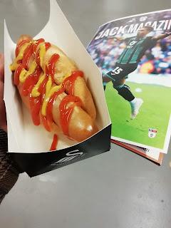 A Swansea City hotdog