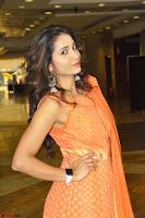 Bhanu Priya in Oreange Ethnic Anarkali Dress 02.JPG