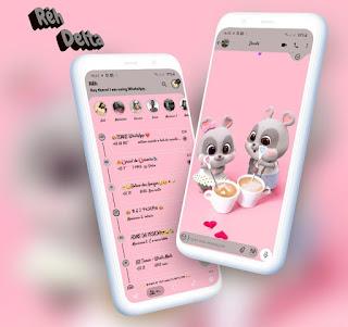 Cute Mice Theme For YOWhatsApp & Delta WhatsApp By Reh