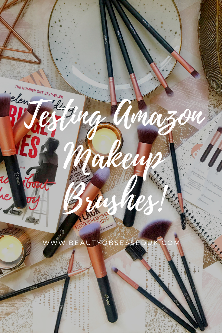 Testing Amazon Makeup Brushes Flatlay