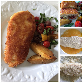 how to make breaded chicken breast stuffed with cheese