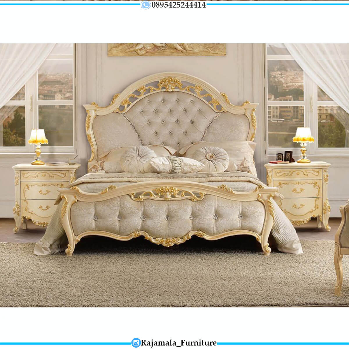 Big Sale Tempat Tidur Mewah Putih Duco Combination Color RM-0651