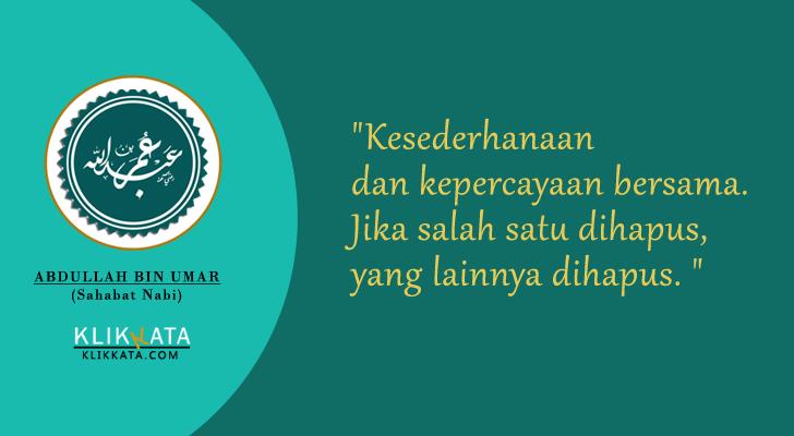 Nasehat Abdullah bin Umar