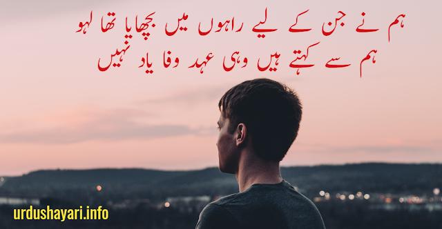 2 lines urdu image poetry bewafa shayri