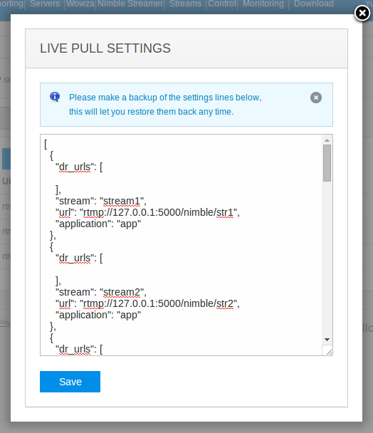 Pull RTMP for ABR HLS transmuxing by Nimble Streamer