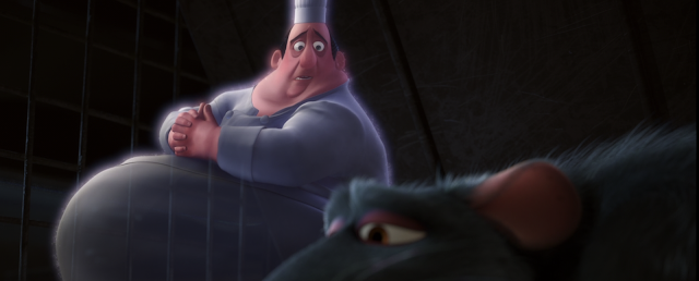 Ghost of Gusteau Talking To Remy Ratatouille Pixar