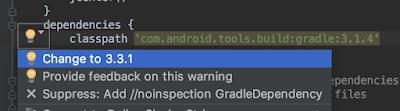 build.gradle (del proyecto) ~ upgrade del build tools