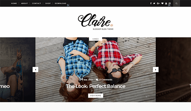 Download Theme Themexpose Claire Blogger Blogspot Template Premium