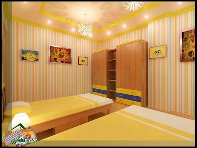 Children's Rooms (Two Beds Pattern)