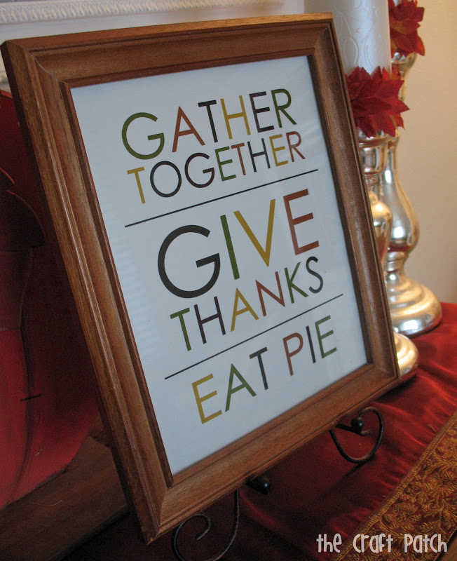 Free Thanksgiving Printable - thecraftpatchblog