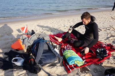 freediving bałtyk nurkowanie plaża władysławowo