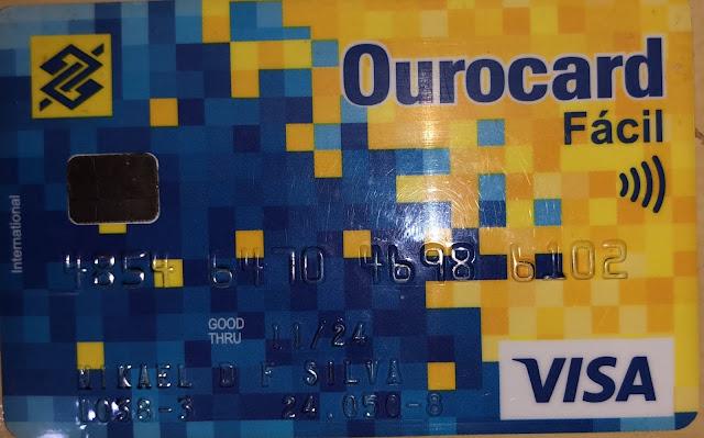 Cartão perdido dentro de agência do banco do Brasil de Caraúbas