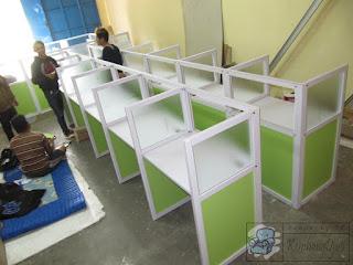 Meja Sekat Partisi Anti Korona Kantor Pemerintahan + Furniture Semarang