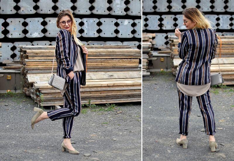 Hosenanzug-Damen-Blau-Outfit