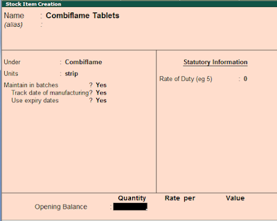 How to Set Stock Manufacturing and Expiry Dates in Tally