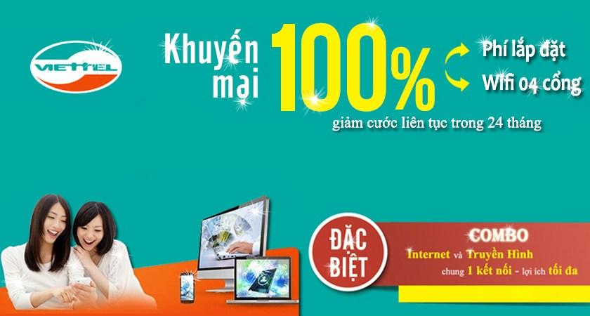 Làm sao để được giảm giá khi dùng internet cáp quang và truyền hình cáp Viettel?