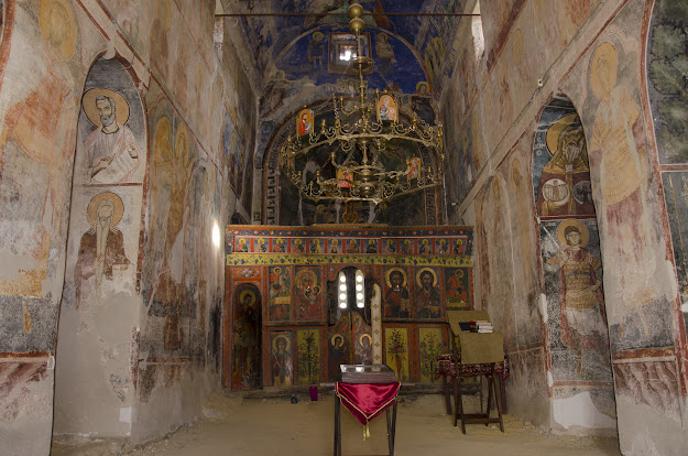 Interior - St. Nicholas church (XI cent.), Manastir village