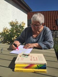 Christine Striebel bei der Arbeit