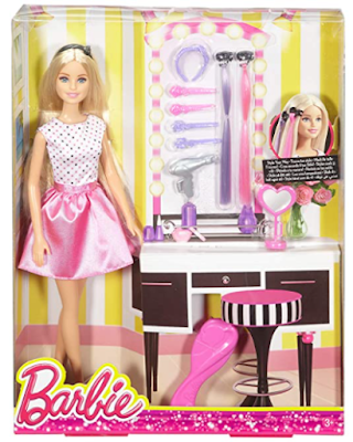 Barbie playset with hair accessories
