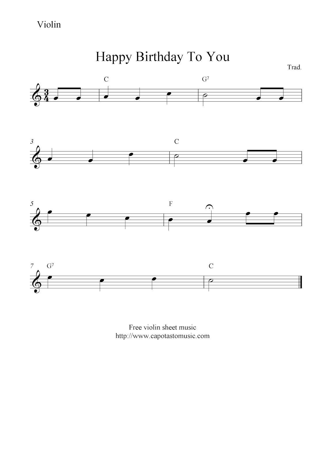 happy birthday to you free violin sheet music notes. Black Bedroom Furniture Sets. Home Design Ideas