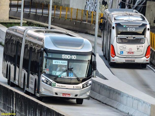 Ônibus da SPTrans estão perdendo passageiros para Linha 15-Prata do Monotrilho, mostra levantamento