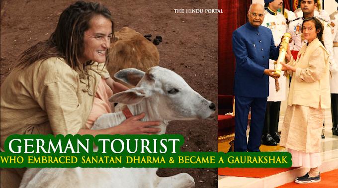 German Tourist Who Embraced Sanatan Dharma & Became A Gaurakshak (Cow Protector) in India