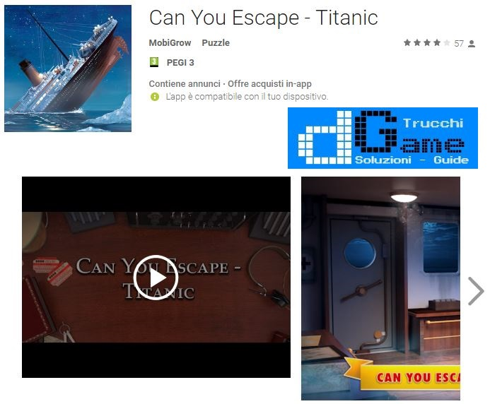 Soluzioni Can You Escape - Titanic