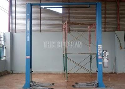 Nguyên lý hoạt động của cầu nâng ô tô 2 trụ thủy lực trong tiệm sửa chữa ô tô