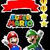 Super Mario Bros: Toppers para Tartas, Tortas, Pasteles, Bizcochos o Cakes para Imprimir Gratis.