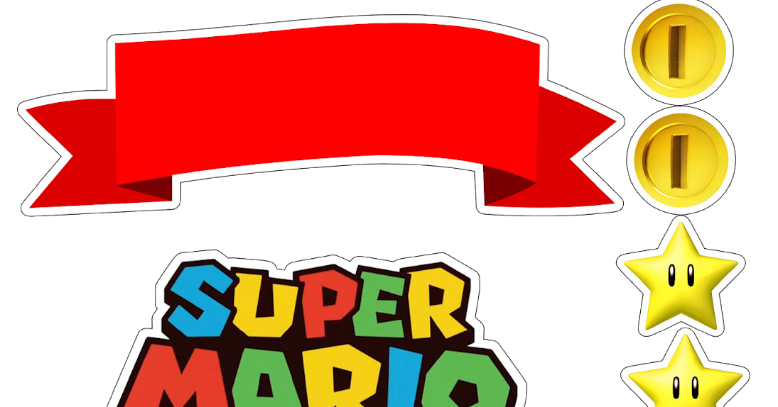 Super Mario Bros Toppers Para Tartas Tortas Pasteles