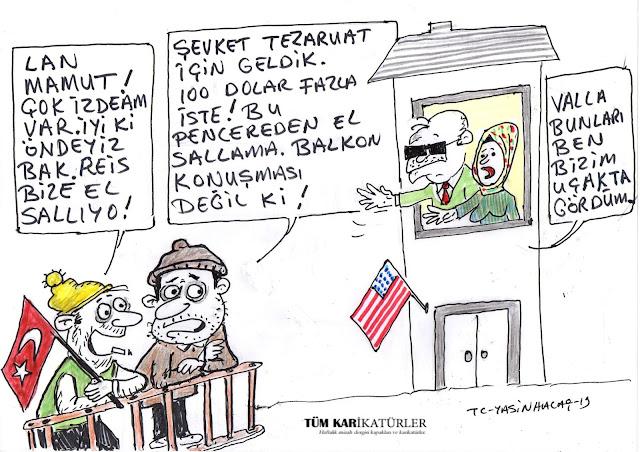 erdoğan amerika karikatür