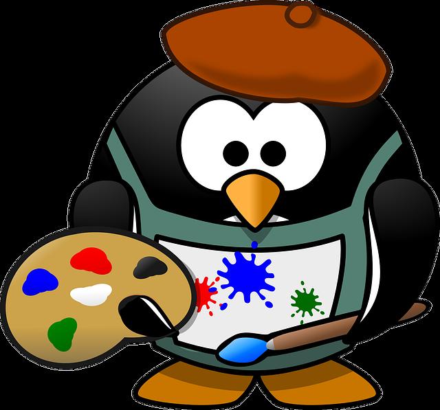 pingouin peintre